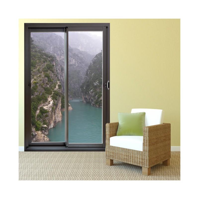 trompe l 39 oeil baie vitr e et gorges du verdon fabriqu par. Black Bedroom Furniture Sets. Home Design Ideas