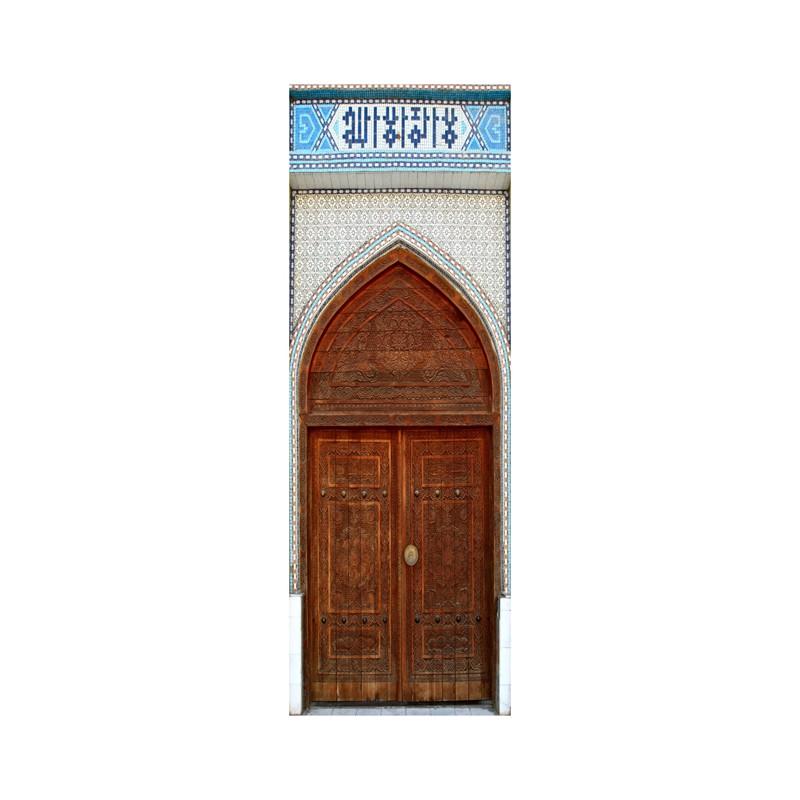 stickers pour porte trompe l 39 oeil porte marocaine. Black Bedroom Furniture Sets. Home Design Ideas