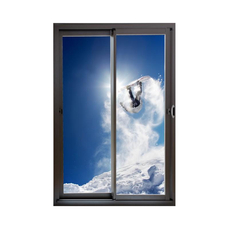 stickers snowboard et baie vitr e trompe l 39 oeil adh sif. Black Bedroom Furniture Sets. Home Design Ideas