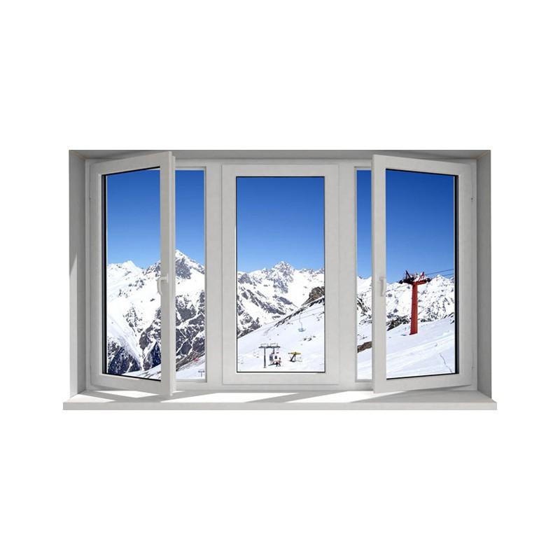 Stickers trompe l 39 oeil fen tre la montagne l 39 hiver for Fenetre hiver