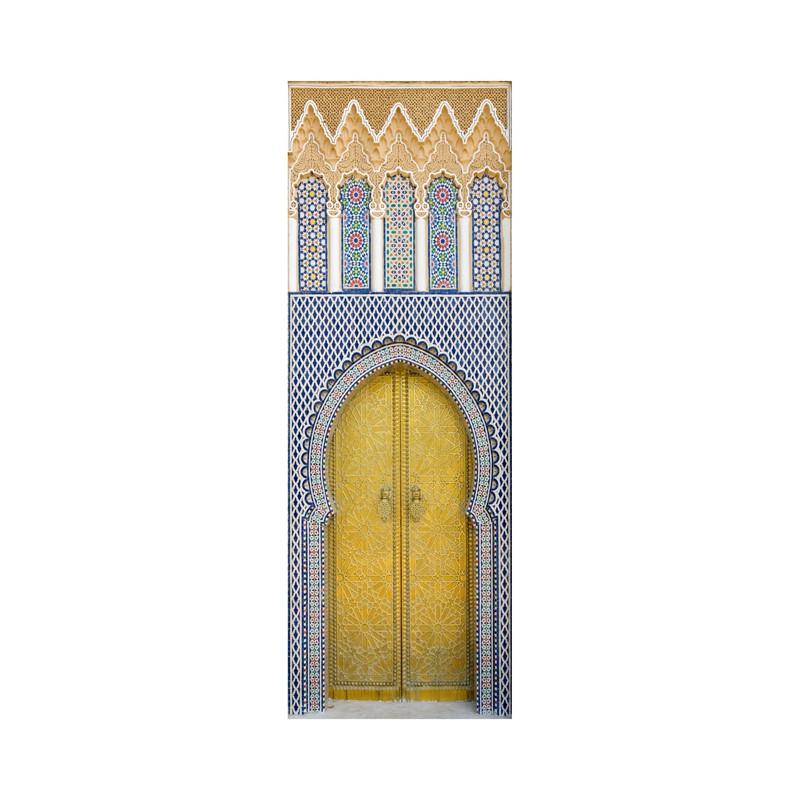 stickers pour porte porte marocaine en trompe l 39 oeil. Black Bedroom Furniture Sets. Home Design Ideas