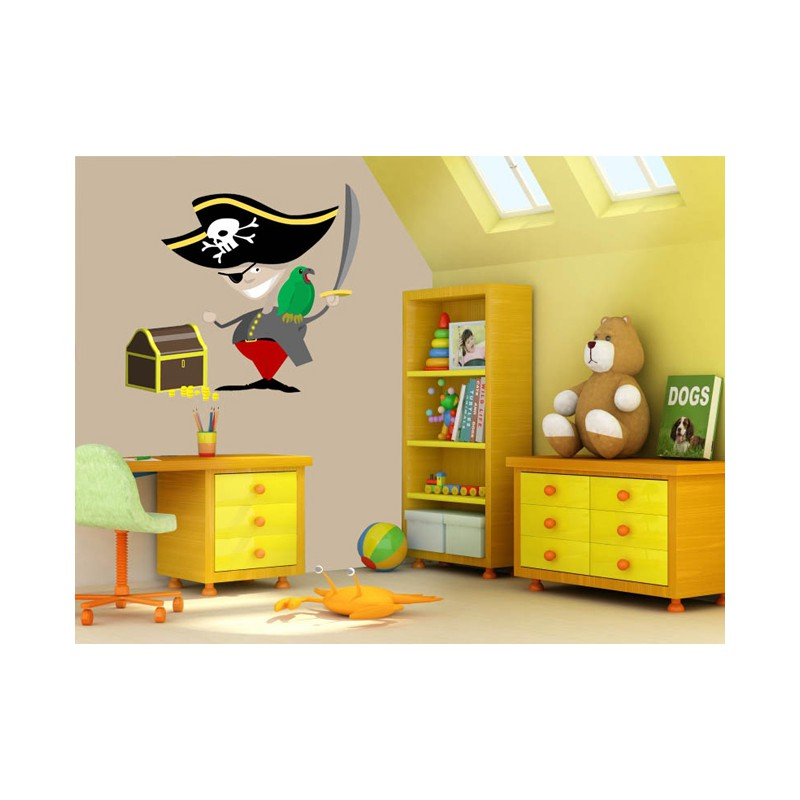 stickers pirate au coffre fort tatoutex stickers. Black Bedroom Furniture Sets. Home Design Ideas