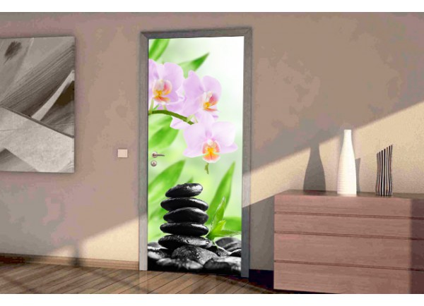 Stickers pour porte ambiance zen for Decoration porte adhesive