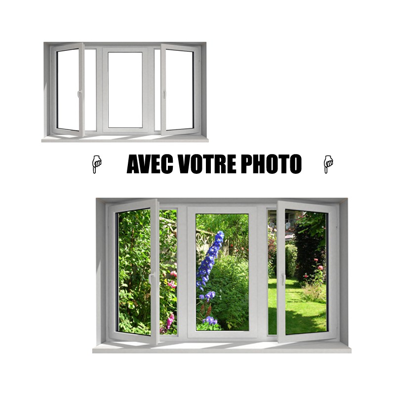 Stickers fen tre avec votre photo l 170cm x h 102cm for Stickers pour fenetre
