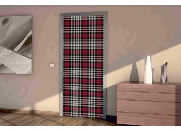 stickers pour porte effet tissu tatoutex stickers. Black Bedroom Furniture Sets. Home Design Ideas