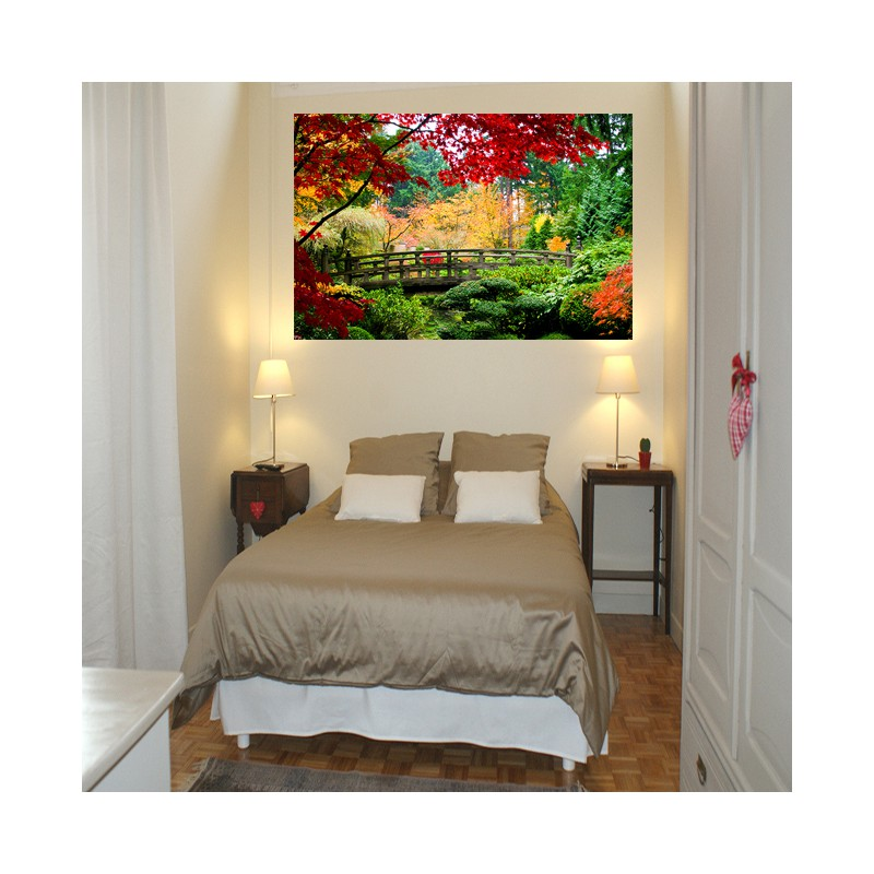 stickers photo d coration murale jardin exotique tatoutex stickers. Black Bedroom Furniture Sets. Home Design Ideas
