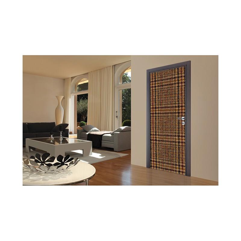 stickers de porte d coration murale de porte effet tissus tatoutex. Black Bedroom Furniture Sets. Home Design Ideas