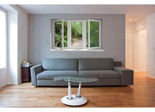 stickers muraux trompe l 39 oeil d coration murale fen tre. Black Bedroom Furniture Sets. Home Design Ideas