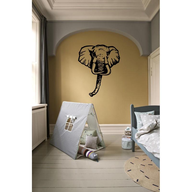 Stickers t te d 39 l phant tatoutex stickers - Tete d elephant mural ...
