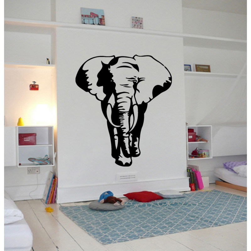 D coration murale l phant stickers l phant animal sauvage for Decoration murale elephant