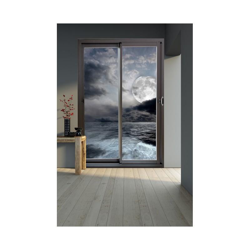 stickers baie vitr e adh sif mural clair de lune. Black Bedroom Furniture Sets. Home Design Ideas