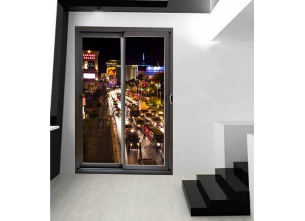 Stickers trompe l'oeil baie vitrée Las Vegas