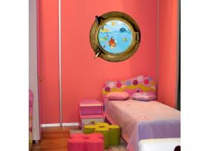 tatoutex trompe l 39 oeil hublot adh sif hublot d coration murale hublot tatoutex stickers. Black Bedroom Furniture Sets. Home Design Ideas