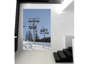 Stickers paysage Piste de ski