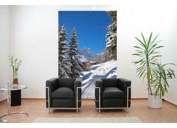 Stickers paysage La montagne sous la neige
