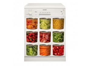 Stickers lave vaisselle Boite de légumes