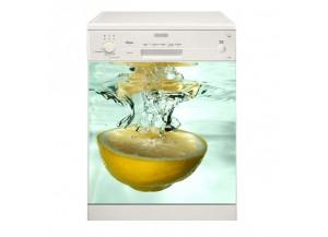 Stickers lave vaisselle Citron jaune