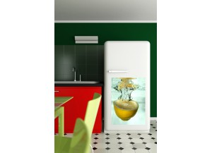 Stickers frigo Citron jaune