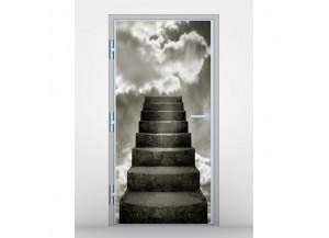 Stickers pour porte Escalier dans les nuages