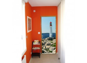 Stickers pour porte Le phare
