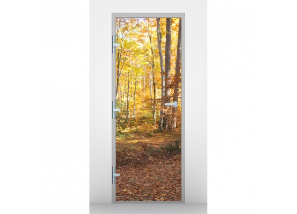 Stickers pour porte for t d 39 automne tatoutex stickers - Stickers pour porte d entree ...