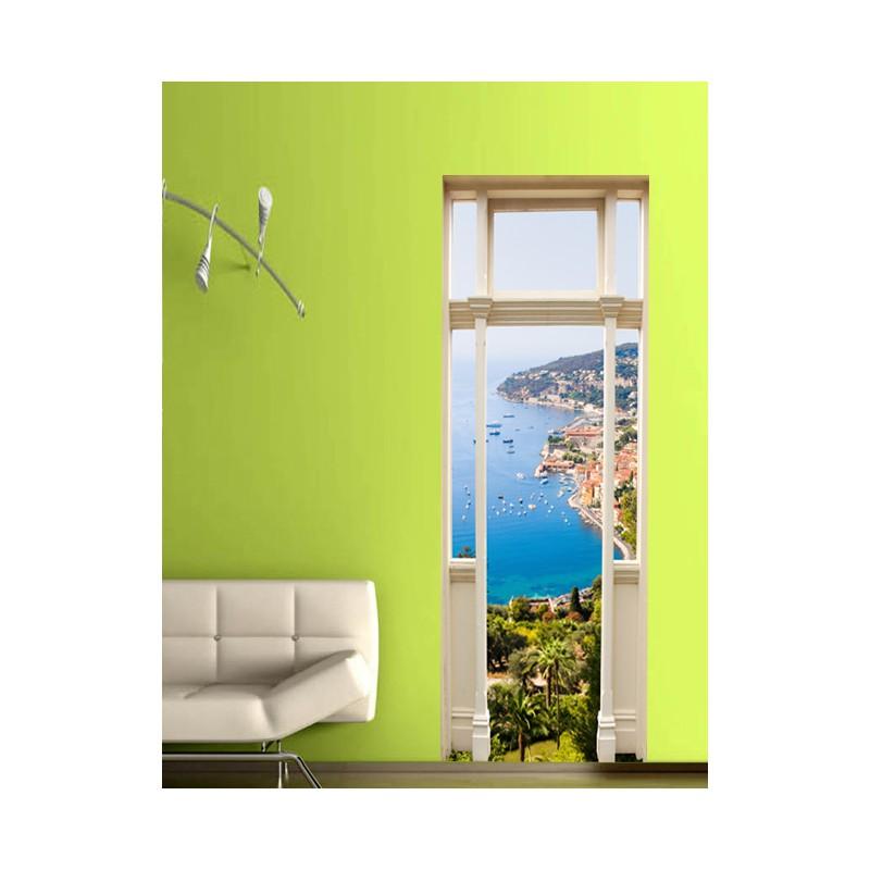 stickers trompe l 39 oeil porte la c te d 39 azur tatoutex stickers. Black Bedroom Furniture Sets. Home Design Ideas