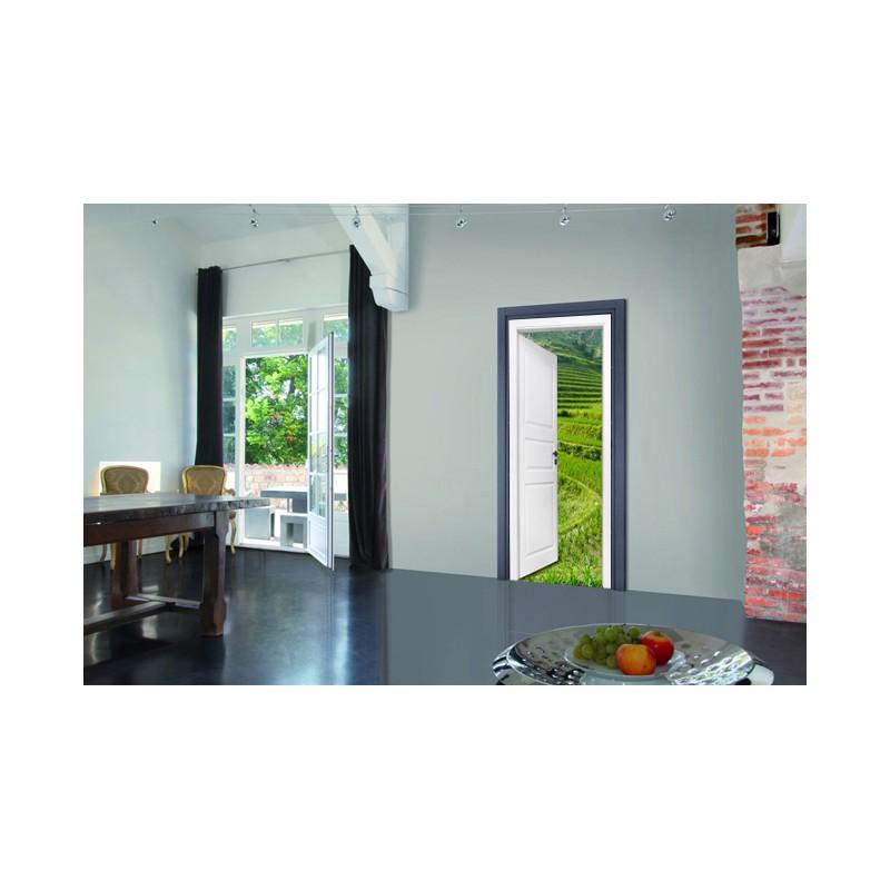 stickers trompe l 39 oeil porte les rizi res tatoutex stickers. Black Bedroom Furniture Sets. Home Design Ideas
