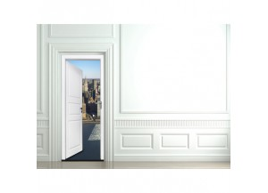 Stickers trompe l'oeil porte New York