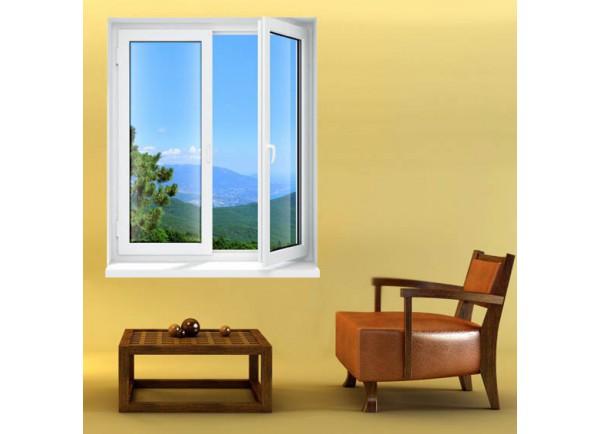 Stickers trompe l'oeil fenêtre le Mont Ventoux
