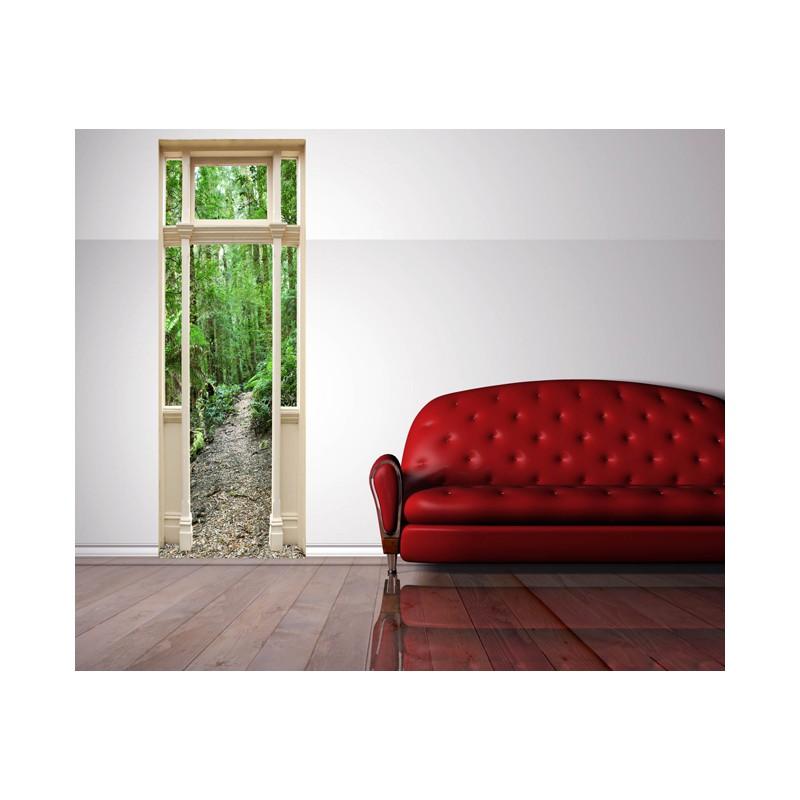 stickers trompe l 39 oeil porte sentier en foret tatoutex stickers. Black Bedroom Furniture Sets. Home Design Ideas