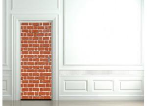 Stickers pour porte Mur de brique