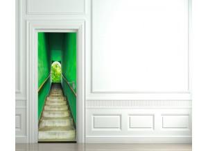 Stickers pour porte Escalier vert