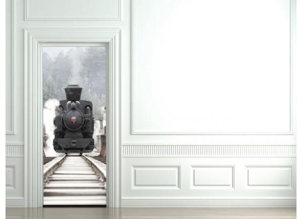 Stickers trompe l'oeil Le train vapeur
