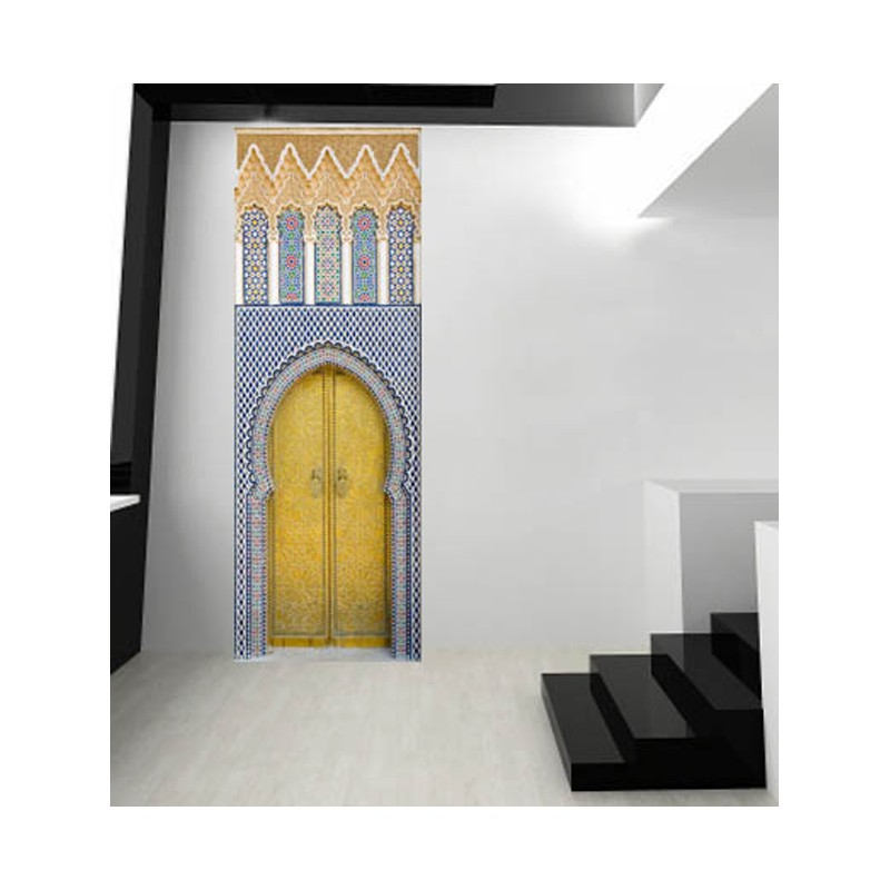 latest stickers pour porte porte marocaine en trompe l oeil porte en trompe l oeil with trompe. Black Bedroom Furniture Sets. Home Design Ideas
