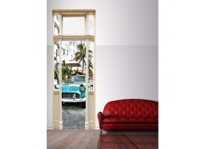 Stickers trompe l'oeil porte Miami beach