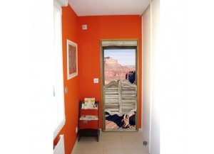 Stickers trompe l'oeil porte Le grand canyon
