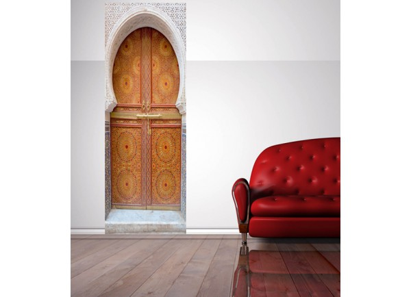 gallery of stickers trompe luoeil porte marocaine with. Black Bedroom Furniture Sets. Home Design Ideas