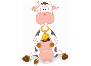 Stickers Vache et cloche