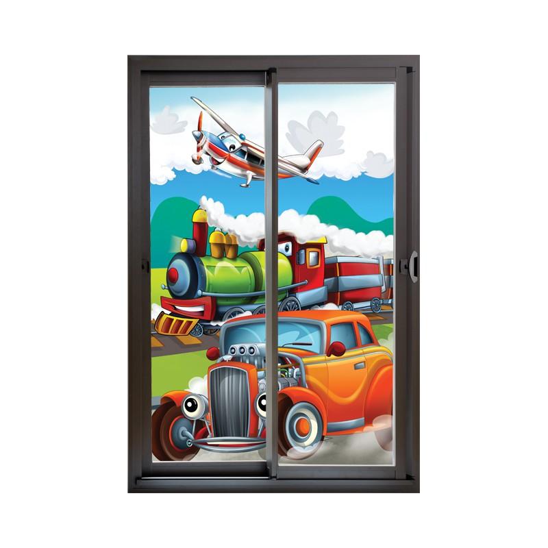 stickers adh sif trompe oeil mural enfant trompe l 39 oeil pour enfants. Black Bedroom Furniture Sets. Home Design Ideas