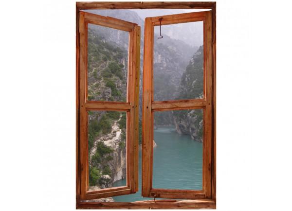 Stickers trompe l'oeil fenêtre Gorges du Verdon