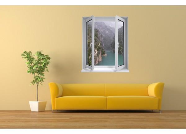 Stickers trompe l'oeil fenêtre les gorges du Verdon