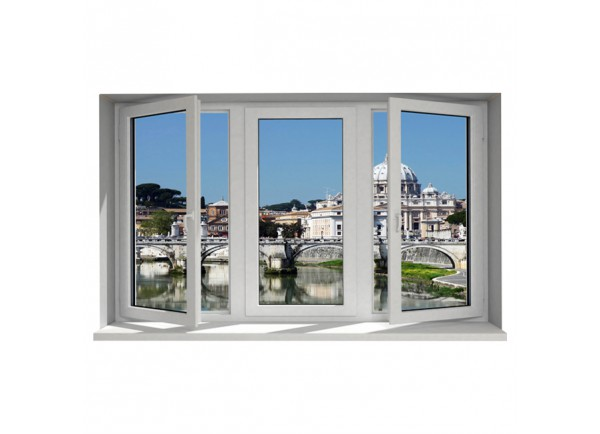Stickers trompe l'oeil fenêtre Le Vatican