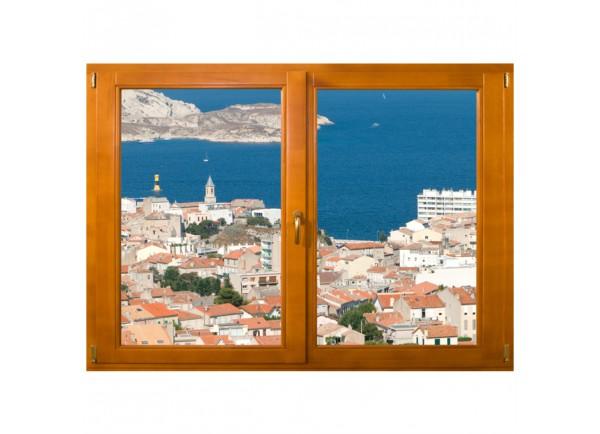Stickers trompe l'oeil fenêtre Marseille