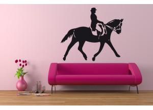 Stickers Cavalière et cheval
