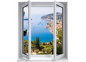 Stickers trompe l'oeil fenêtre La côte d'azur