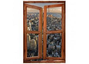 Stickers trompe l'oeil fenêtre Manhattan
