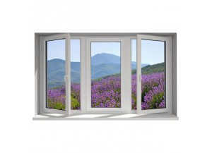 Stickers trompe l'oeil fenêtre la Provence