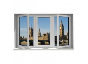 Stickers trompe l'oeil fenêtre Londres
