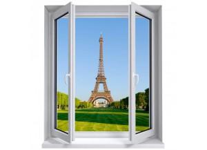 Stickers trompe l'oeil fenêtre La tour Eiffel
