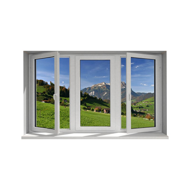 Stickers trompe l 39 oeil fen tre la montagne tatoutex stickers for Fenetre trompe l oeil